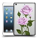 Head Case Designs Pfund Silber Rosen Und Wildblumen Ruckseite Hülle für iPad Mini 1 / Mini 2 / Mini 3