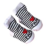 0-6 M Bebe Naissance Chausettes Socquette Chausson Anti-slip Socks (PAPA)