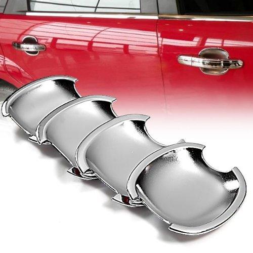 Nuovo ABS plastica Specchio Cromato Side Door Handle Covers ciotola Trims luce peso