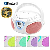 Lauson CP751 Cd-Player | Boombox | Portable Radio CD Player with Bluetooth |