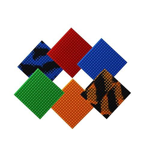 Wiederverwendbar Silikon Selbstklebend Baustein Klebeband, Kompatibel mit Lego Bausets, Pädagogisches Spielzeug zum Anregen der Vorstellungskraft, 17 Bolzen (Quadrat-6pcs) (Schulen Lego)