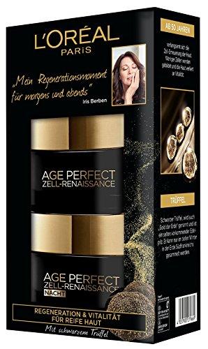 L\'Oreal Paris Age Perfect Zell-Renaissance Tag und Nacht Gesichtspflege-Set mit schwarzem Trüffel & Schwarztee, stimuliert die Zell-Erneuerung & verlängert die Hautvitalität
