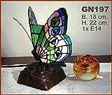 Graf von Gerlitzen Tiffany Tiffanylampe Stand Tisch Schmetterling Lampe Tischlampe GN197GE