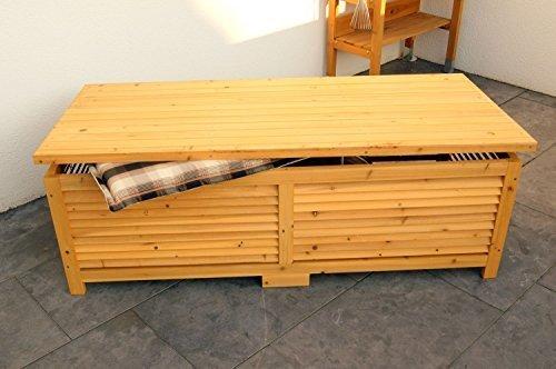 Holz Auflagenbox Kissenbox Gartenbox Gartentruhe Box Auflagen Truhe Holztruhe
