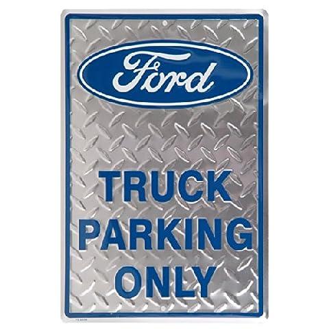 Ford Truck Parking Only Plaque en métal plaqué diamant