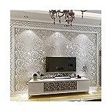 YJZ Luxus Europäischen Stil Metall Tapete Moderne Wasserdichte Alufolie Home Decor Damast Muster Tapete Roll,Silver