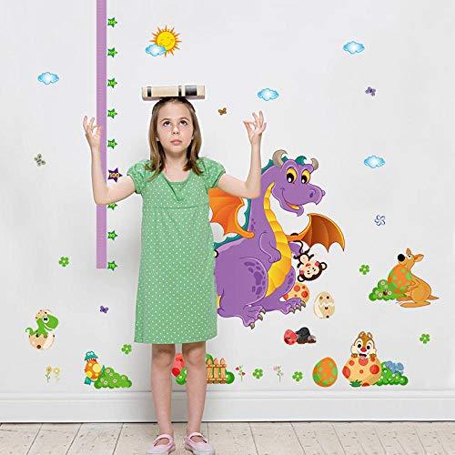 AFTUZC Wandaufkleber,Dinosaurier Höhe Chart Regel Wall Sticker Wasserdicht PVC Umweltfreundlich Für Schlafzimmer Wohnzimmer Sofa Tv Hintergrund Wanddekoration (Regel-chart)