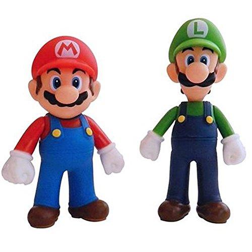Mario Spielzeug-action-figuren (Super Mario Figuren Collection–24cm Kröte Plüsch–13cm Mario und Luigi Große Twin Figur–5cm Six Pack Mini Figuren)