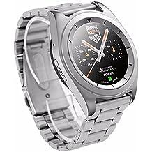 Onebird No.1 G6 Bluetooth 4.0 Smart Watch MTK2502 monitor de ritmo cardíaco Sport Pedometer Tracker para iPhone IOS y teléfonos con Android (plata BANDA DE ACERO INOXIDABLE)