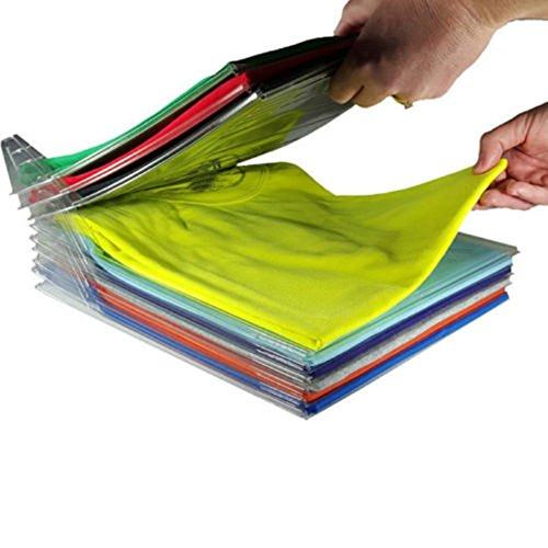 zhouba Kleidung Organizer System um T Shirt Board Schrank Schublade Kleidung Fold Board Wickelschrank Organisation, plastik, farblos, Einheitsgröße