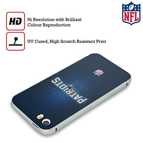 Ufficiale NFL Righe 2017/18 New England Patriots Argento Cover Contorno con Bumper in Alluminio per Apple iPhone 5 / 5s / SE LED