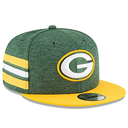 New Era NFL Green Bay Packers Authentic 2018 Sideline 9FIFTY Snapback Home Cap, Größe :M/L