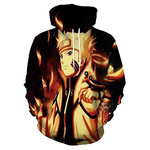 Kostüm Mann Alter Händen - Baige Unisex Naruto 3D Print Pullover Hoodie Sweatshirt Anime Naruto Cosplay Kostüm für Männer, Frauen, Jungen und Mädchen