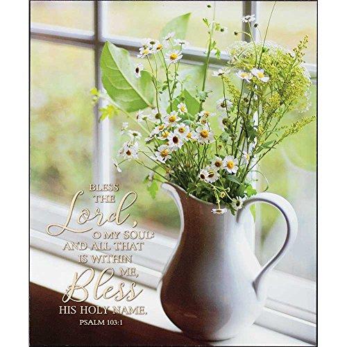 Dicksons Bless der Herr, Segne Seinen Heiligen Namen Daisy Bouquet 10x 12Holz Wandschild Aufschrift - Daisy Bouquet Wand