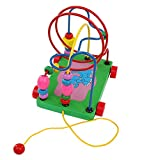 #6: FunBlast™ Colorful Circle Beaded Trailer Kid Push Pull Toy for baby Puzzle, Elephant trailer Color beads Educational toys for children ,Educational Skill Improvement Wood Toys for Toddlers, Multicolor