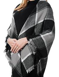 Donna Sciarpa Scialle Inverno Coperta Scozzese Invernale c3f8f808ff1b