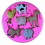 Bauernhof Hoftier Schwein Schaf Pony Kuh Esel Silikon Form für Kuchen Dekorieren, Kuchen, kleiner Kuchen Toppers, Zuckerglasur Sugarcraft Werkzeug durch Fairie Blessings
