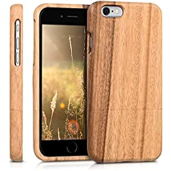 Kwmobile Coque de Protection en Bois pour Apple iPhone 6/6S Marron Clair
