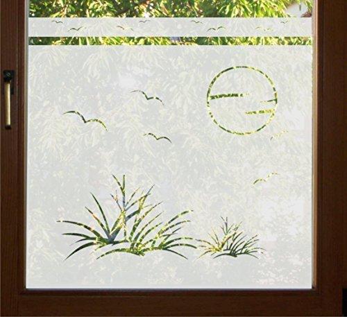 Tür Feste Folien (GD37 / 65cm hoch Sichtschutz Folie Fenster Sichtschutzfolie Fensterfolie Glasdekor Sichtschutzfolie Window blickdicht wasserfest selbstklebende Folie)