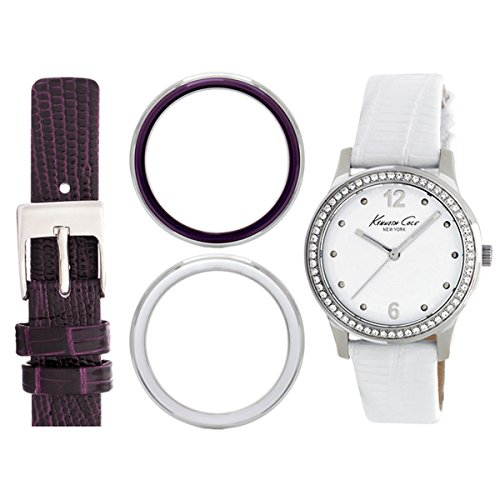 Kenneth Cole New York donna KC6058 Classic box set analogico display bianco orologio al quarzo giapponese set