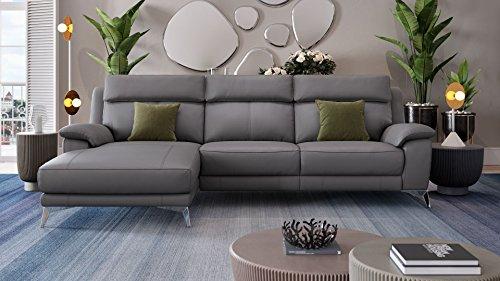 Designer Eckcouch Ecksofa Ledersofa Leder Couch Sofagarnitur Rundsofa Sitzecke