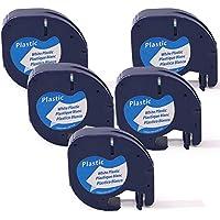 12mm x 4m 91203//91204 5 X Nastro Adesivo 91201//91202 91205 Compatibile con Dymo LetraTag LT-100H LetraTAG LT-100T LetraTAG QX50 LetraTAG XR Colour Direct