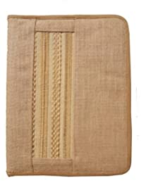 ART ME_jute And Bamboo Zip Folder,Multi-color(Set Of 1)