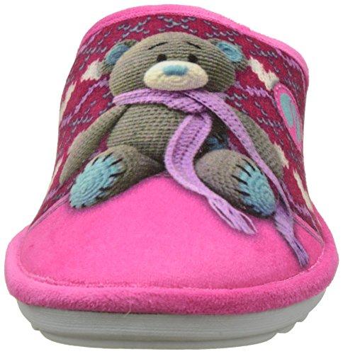 Inblu Cincin, Zapatillas Abiertas En Tobillo Mujer Rosa (fucsia)