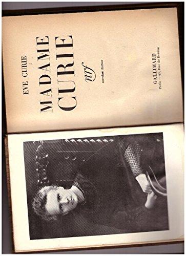 Madame curie. nrf gallimard, 1938 par Curie Eve