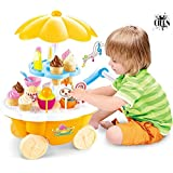 Ice Cream Kitchen Play Cart Kitchen Set Toy With Lights And Music By CIERN