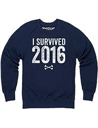I Survived 2016 Sweatshirt mit Rundhals, Herren