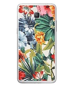 PrintVisa Designer Back Case Cover for Samsung Galaxy Grand Neo I9060 :: Samsung Galaxy Grand Lite (Flower Leaf Green Rain Garden Lilly )