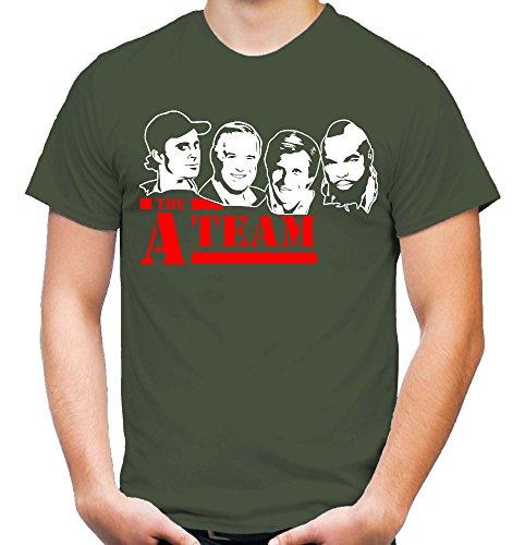 A-Team Männer und Herren T-Shirt | Spruch Hannibal B. A. Geschenk M5 (XL, Olive)