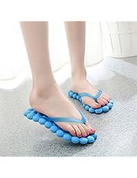 XING GUANG Massage Slipper Weibliche Modelle Sommer Neue Student Flip Flops Toe Strand Damen Drag SandalenE(37)  E(37)