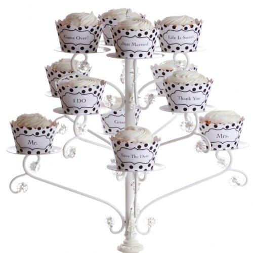 Kleid My Cupcake Polka Dot Wedding Collection Cupcake Wrappers, Set von 12 - Dots Cupcake Liner