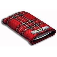Norrun Skage Handytasche aus Textil-Stoff maßgeschneidert mit Mikrofasereinlage, Strahlenschutz ersetzt die Tasche von Hersteller / Modell Samsung Galaxy Xcover3