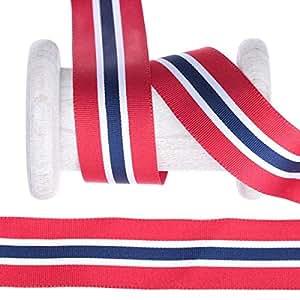Schleifenband Flagge Norwegen Meterware – 25 mm: Amazon.de