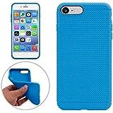 Protectiva Carcasa Para iphone 7 plus , case Para el iPhone 7 más nido de abeja suave TPU funda de protección ,para iPhone 7 plus (2016) ( Color : Blue )