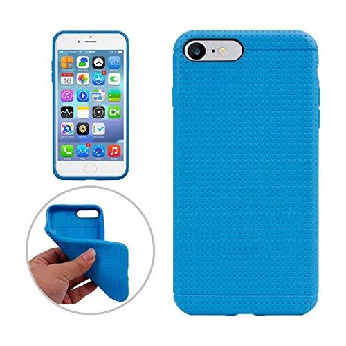 Hülle für iPhone 7 plus , Schutzhülle Für iPhone 7 Plus Honeycomb Texture Soft TPU Schutzhülle ,hülle für iPhone 7 plus , case for iphone 7 plus ( Color : Gold ) Blue