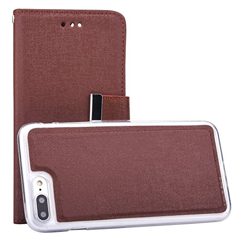 Hülle für iPhone 7 plus , Schutzhülle Für iPhone 7 Plus Oracle Texture Separable Horizontale Flip Ledertasche mit Card Slots & Wallet & Photo Frame & Lanyard ,hülle für iPhone 7 plus , case for iphone Coffee