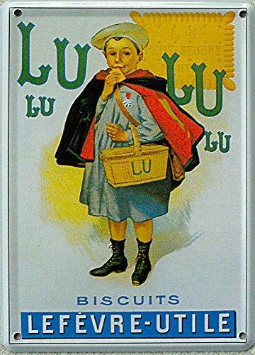 Mini-Blechschild Lulu Biscuits, 8 x 11 cm (Lulu Biscuits)