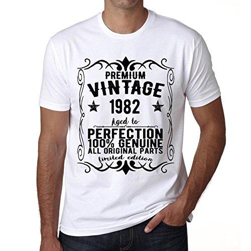Premium Vintage Year 1982 vintage tshirt geburtstag t shirt geschenke tshirt (Vintage T-shirt 1982 Herren)