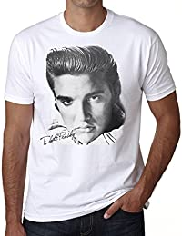 Elvis Presley Star T-shirt,cadeau,Homme,Blanc,t shirt homme