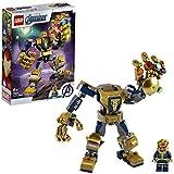 LEGO Super Heroes - Mech Thanos Marvel Avengers con la Minifigure di Thanos, il Mech di Thanos Costruibile e 6 Gemme dell'Infinito, Set di Costruzioni per Bambini +6 Anni, 76141