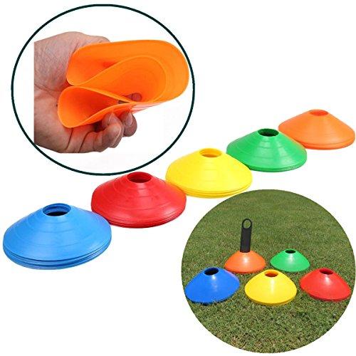 5Stück Markierungshütchen – Markierungsscheiben für Sport Fussball Basketball Football Running Training Markierteller Kunststoff Marker Cone Markierungsteller Ausrüstung zur Spielfeldmarkierung