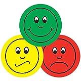 Servicios de enseñanza primaria Ltd N26 - hoja de 70 mezclada verde, amarillo y rojo 25 mm pegatinas