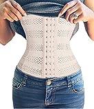 Bafully Frauen-Bauch-Abnehmen Shapewear Breath GUrtel Taille Training Cincher (Large, Beige)