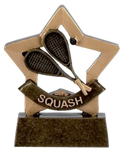 3.25 Mini Star Squash Award Trophy with FREE Engraving up to 30 Letters Complete with Cardboard Gift Box A970 by Trophy