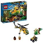 LEGO City PoliziaAereaall'InseguimentodelDrone, Elicottero Giocattolo con Lancia-reti,Set di Costruzioni per Bambini, 60207  LEGO