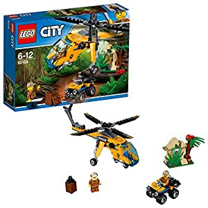 Lego City - L'hélicoptère cargo de la jungle - 60158 - Jeu de Construction